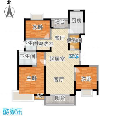 中星怡景花园130.00㎡房型: 三房; 面积段: 130 -140 平方米;户型