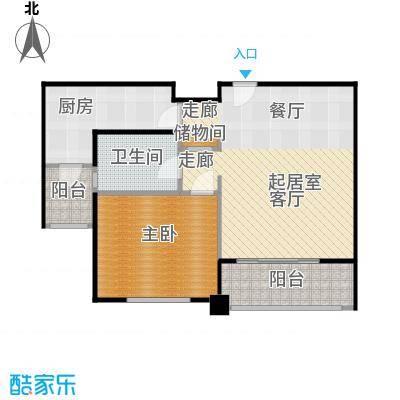 尚东国际名园房型户型1室1卫1厨
