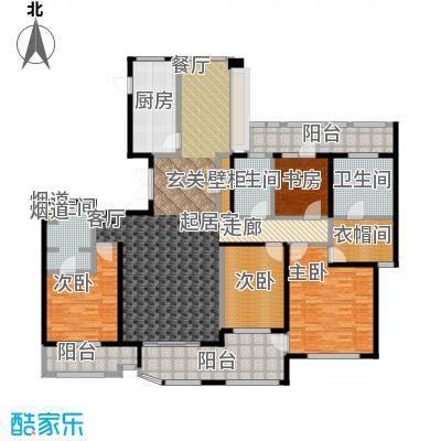 绿地梧桐院3#A4户型4室3卫1厨