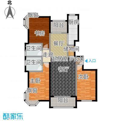 金桥瑞仕花园150.00㎡房型: 三房; 面积段: 150 -160 平方米; 户型