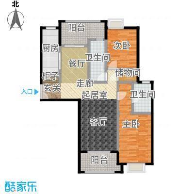 金桥瑞仕花园110.00㎡房型: 二房; 面积段: 110 -120 平方米; 户型