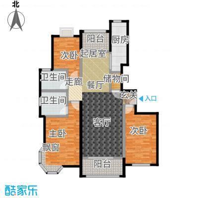 金桥瑞仕花园140.00㎡房型: 三房; 面积段: 140 -150 平方米; 户型