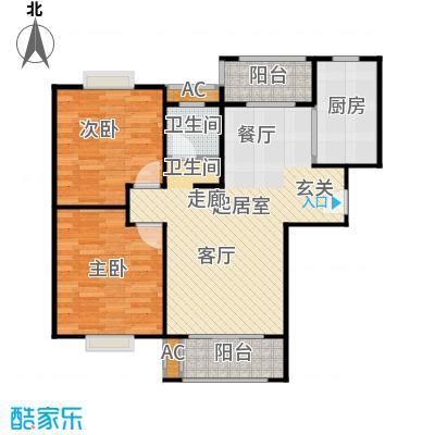 张江汤臣豪园80.00㎡二房二厅一卫-88平方米-56套户型