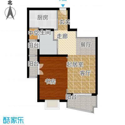 联洋年华74.17㎡房型: 一房; 面积段: 74.17 -76.62 平方米;户型