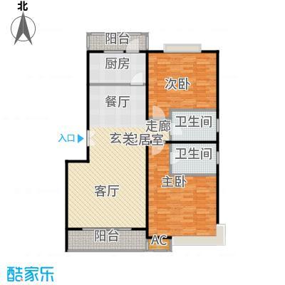永达城市公寓110.00㎡房型: 二房; 面积段: 110 -120 平方米; 户型