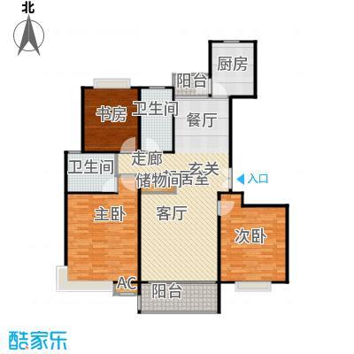 永达城市公寓120.00㎡房型: 三房; 面积段: 120 -130 平方米; 户型