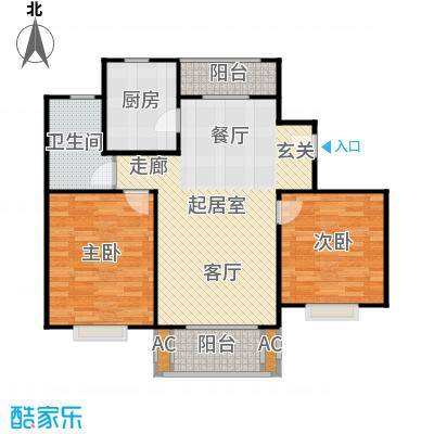 张江汤臣豪园二房二厅一卫-89平方米-119套户型