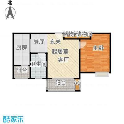 张江汤臣豪园60.00㎡一房二厅一卫-61平方米-22套户型
