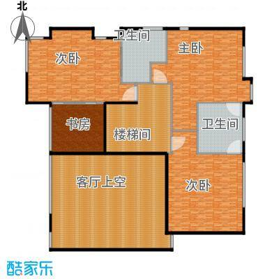 汤臣湖庭花园A地上二层户型4室2卫