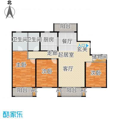 张江汤臣豪园140.00㎡三房二厅二卫-144平方米-36套户型