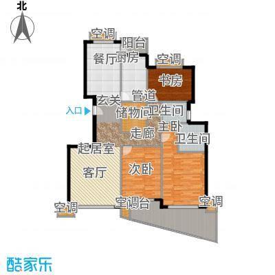 东方汇景苑142.00㎡房型: 三房; 面积段: 142 -163 平方米; 户型