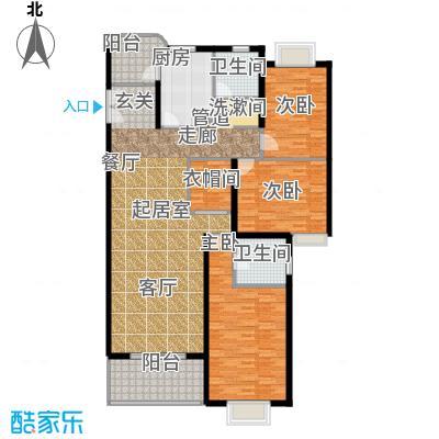 华丽家族花园134.15㎡房型: 三房; 面积段: 134.15 -205.44 平方米; 户型