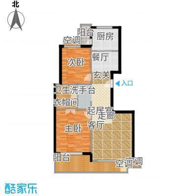 东方汇景苑99.00㎡房型: 二房; 面积段: 99 -126 平方米; 户型