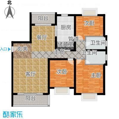 上南花城115.00㎡房型: 三房; 面积段: 115 -160 平方米;户型
