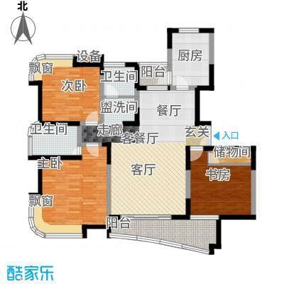 云山星座苑119.00㎡房型: 三房; 面积段: 119 -125 平方米; 户型