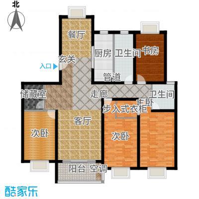 上南花城176.00㎡房型: 四房; 面积段: 176 -176 平方米;户型