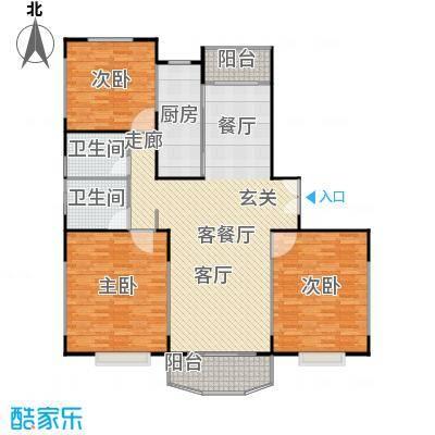 新世纪名苑145.12㎡房型: 三房; 面积段: 145.12 -148.93 平方米;户型