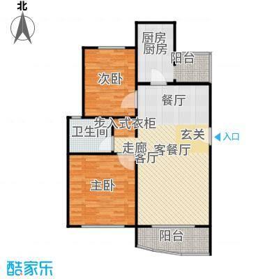 陆家嘴新景园87.95㎡房型: 二房; 面积段: 87.95 -94.05 平方米; 户型