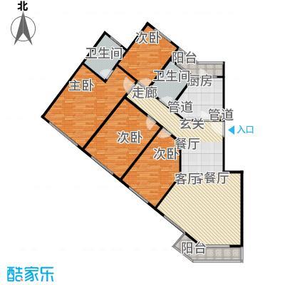 中星雪野家园144.44㎡房型: 四房; 面积段: 144.44 -144.67 平方米; 户型