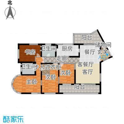 浦江海景A户型4室1厅2卫1厨
