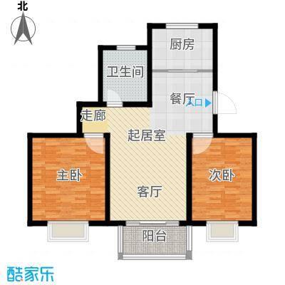 繁荣华庭95.67㎡F1户型2室1卫1厨