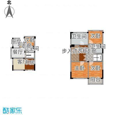 绿城玉兰公馆D2B-户型5室2厅3卫1厨