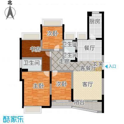 浦东颐景园D1户型4室1厅2卫1厨