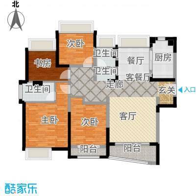 浦东颐景园C1户型4室1厅2卫1厨
