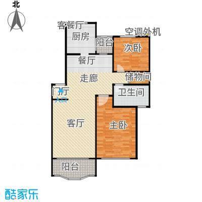杨思水境园88.11㎡房型: 二房; 面积段: 88.11 -106.23 平方米;户型