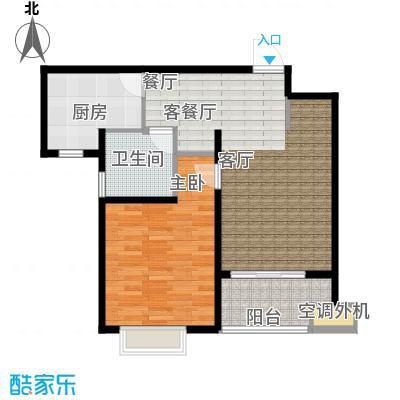 上域(逸庭苑)E2 66.35平米户型