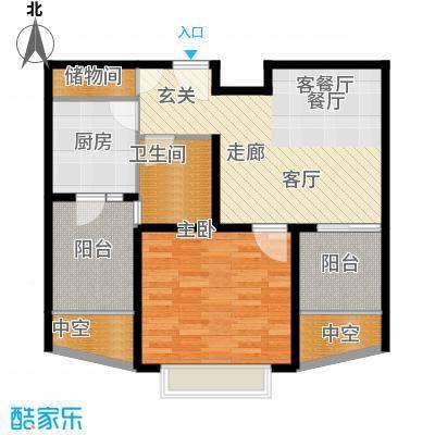 九亭明珠苑三期70.84㎡房型: 一房; 面积段: 70.84 -70.84 平方米;户型