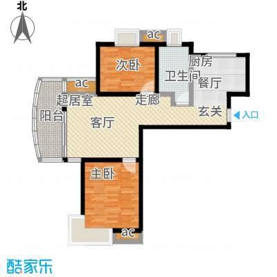 九城湖滨国际公寓80.00㎡二房一厅一卫-80-90平米-167套户型