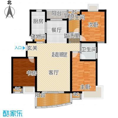 九城湖滨国际公寓136.00㎡D2户型图户型3室2厅2卫