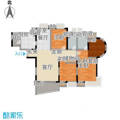九城湖滨国际公寓144.00㎡C4户型图户型3室2厅2卫