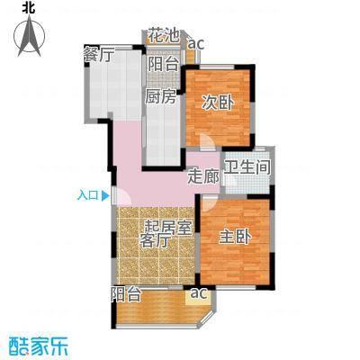 九城湖滨国际公寓101.00㎡房型: 二房; 面积段: 101 -120 平方米;户型