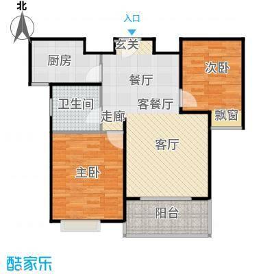 华亭荣园一期70.00㎡二房二厅一卫-70-80平米-26套户型