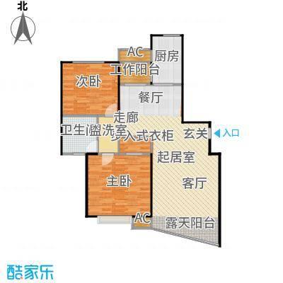大唐盛世花园三期100.00㎡房型: 二房; 面积段: 100 -110 平方米; 户型
