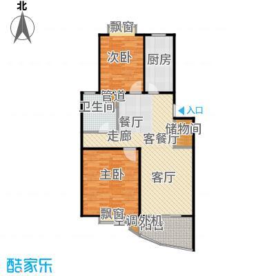 东都豪苑房型户型2室1厅1卫1厨