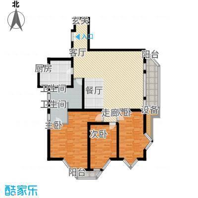 新都花园一期房型户型3室1厅2卫1厨