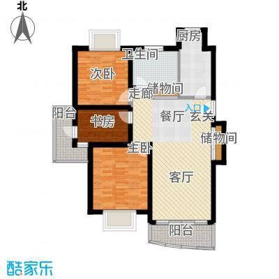 金桥新城一期115.00㎡房型: 三房; 面积段: 115 -125 平方米;户型