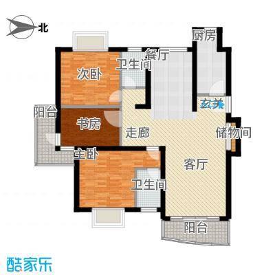 金桥新城一期115.00㎡房型: 三房; 面积段: 115 -125 平方米; 户型