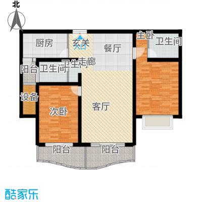 联洋新苑112.80㎡房型: 二房; 面积段: 112.8 -112.8 平方米; 户型