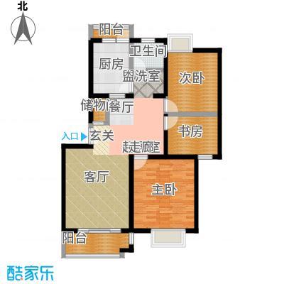 东方知音84.70㎡房型: 二房; 面积段: 84.7 -98 平方米;户型