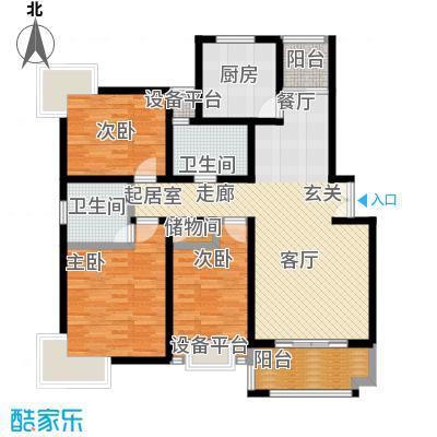 东方知音100.33㎡房型: 三房; 面积段: 100.33 -101.24 平方米;户型