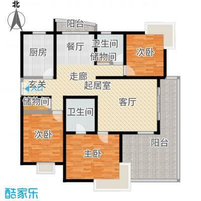 碧云新天地一期房型户型3室2卫1厨