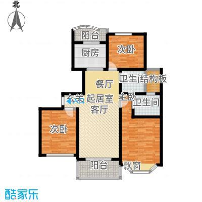锦三角花园-缘锦园121.61㎡房型: 三房; 面积段: 121.61 -135.59 平方米;户型