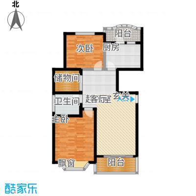 锦三角花园-缘锦园102.24㎡房型: 二房; 面积段: 102.24 -103.82 平方米;户型