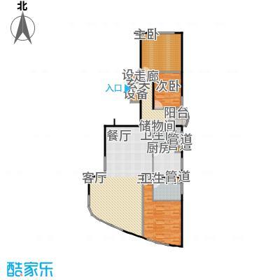 陆家嘴花园二期房型户型3室1厅2卫1厨