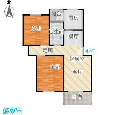 凌兆佳苑77.80㎡房型: 二房; 面积段: 77.8 -99.8 平方米; 户型