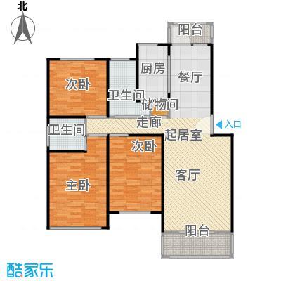凌兆佳苑101.90㎡房型: 三房; 面积段: 101.9 -122.9 平方米; 户型